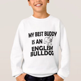 best buddy english bulldog casual apparel sweatshirt