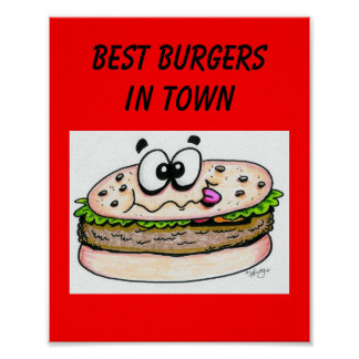 Best Burgers in Town Poster
