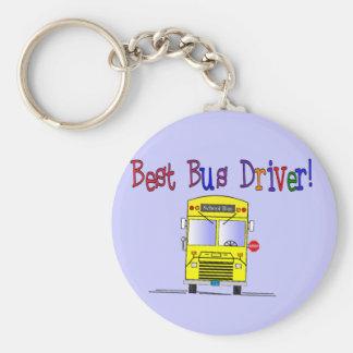 Best Bus Driver Gifts Basic Round Button Keychain