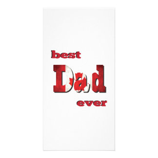 Best Canadian Dad Ever Photo Card Template
