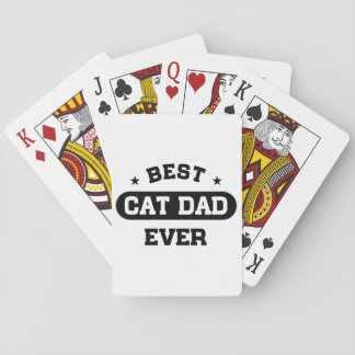 Best Cat Dad Ever Playing Cards