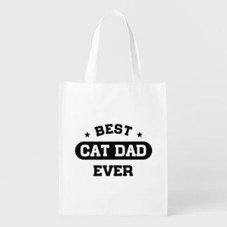 Best Cat Dad Ever Reusable Grocery Bag