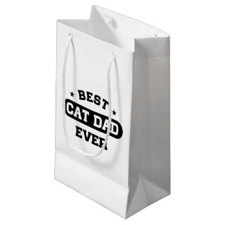 Best Cat Dad Ever Small Gift Bag