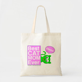 BEST CAT MOM EVER - PLANET PEEKABOO FEATURING LYNX TOTE BAG