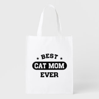 Best Cat Mom Ever Reusable Grocery Bag