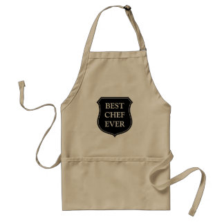 Best chef ever BBQ apron for men | Beige