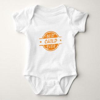 Best Child Ever Orange Baby Bodysuit