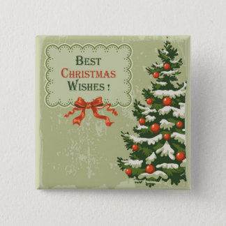 Best Christmas Wishes 2 Inch Square Button