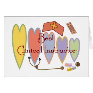 BEST CLINICAL INSTRUCTOR COUNTRY HEARTS CARD