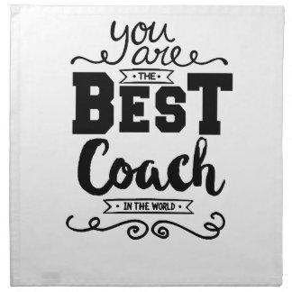 Best Coach Ever Napkin