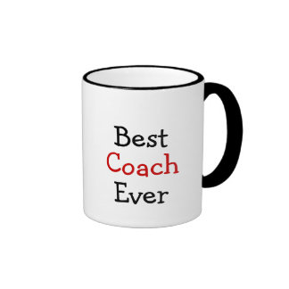 Best coach ever ringer coffee mug