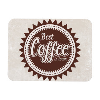 BEST COFFEE IN TOWN RECTANGULAR PHOTO MAGNET