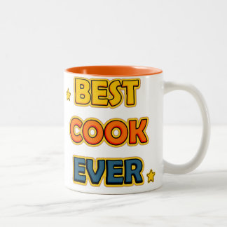 Best Cook ever Two-Tone Coffee Mug