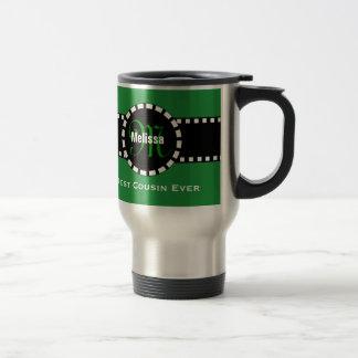 Best COUSIN Ever Monogram Custom Name V06 Travel Mug