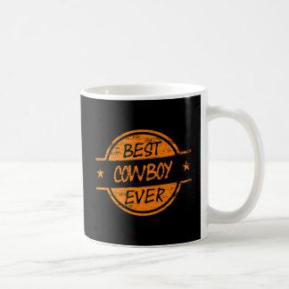 Best Cowboy Ever Orange Coffee Mug