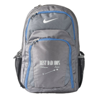 Best Dad 100% Love Patience Father Backpack Bag