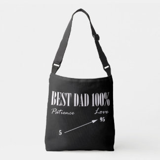 Best Dad 100% Love Patience Funky Father Tote Bag