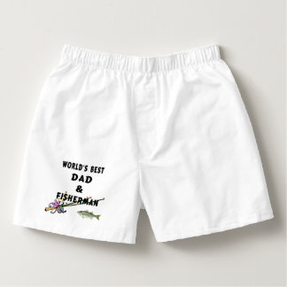 Best Dad and Fisherman Boxers