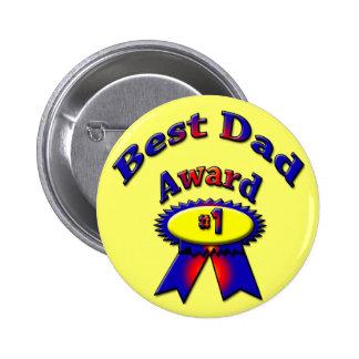Best Dad Award 2 Inch Round Button