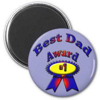 Best Dad Award 2 Inch Round Magnet