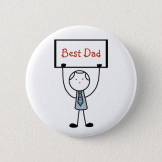 """""""Best Dad"""" Badge/Pin/Button 2 Inch Round Button"""