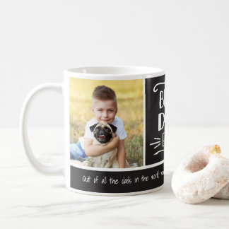 Best Dad Ever | 2 Photo Custom Color Mug