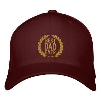 Best Dad Ever All Star SuperDad Embroidery Embroidered Hat