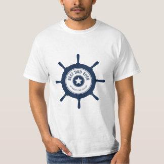 Best Dad Ever Blue Ships Wheel Tshirt