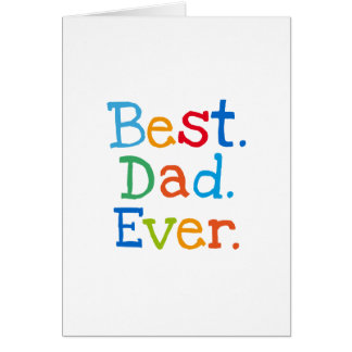 Best dad ever card