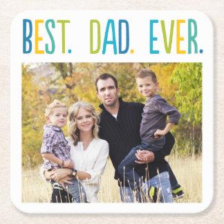 Best Dad Ever Custom Photo Coaster