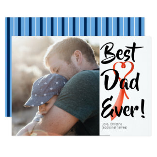 Best Dad Ever Custom Photo Father's Day Card