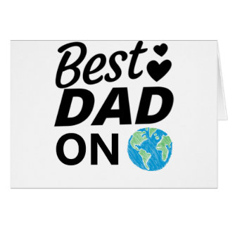 Best dad Ever father Day men Card