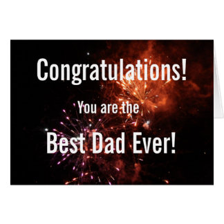 Best Dad Ever Father's Day Fireworks Greeting Card