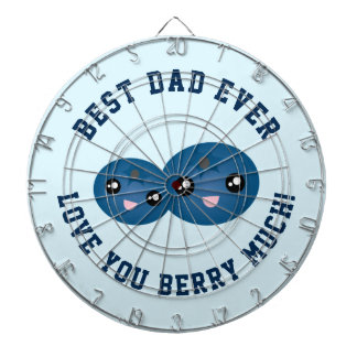 Best Dad Ever Father's Day Love You Berry Much Dartboard