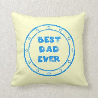Best Dad Ever Grunge Stamp Pillow