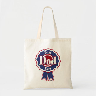 Best Dad Ever ribbon Tote Bag