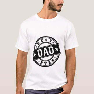 Best Dad Ever Stamp T-shirt for Father's Day Gift