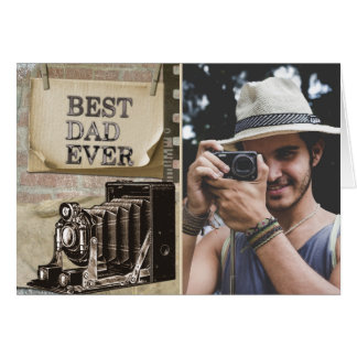 Best Dad Ever | Vintage Happy Father's Day Photo Card