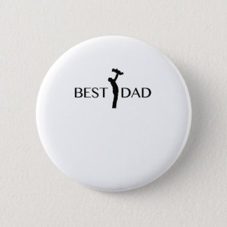 Best Dad  Gift For Father Day  Daddy Papa 2 Inch Round Button