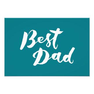 Best Dad - Hand Lettering Design Photo Art