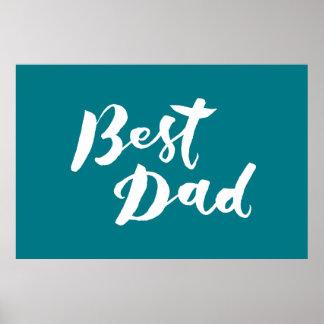 Best Dad - Hand Lettering Design Poster