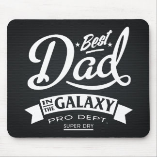 Best Dad In The Galaxy Dark (Carbon Background) Mouse Pad