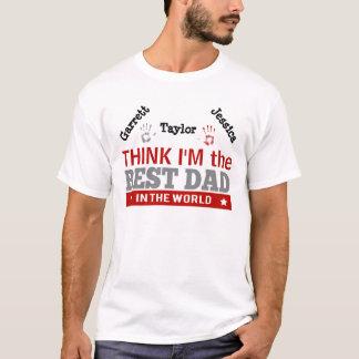 Best Dad in the World Argyle Custom T-Shirt