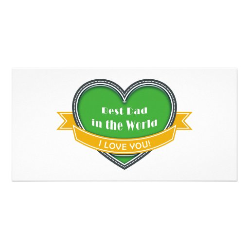 Best Dad in the World Photo Card Template
