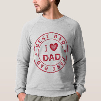 Best Dad Men's American Apparel Raglan Sweatshirt