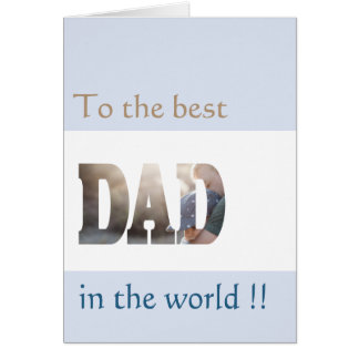 Best Dad NEW Template and Personalized Card
