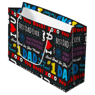 Best Dad Sayings Large Gift Bag