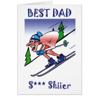Best Dad Sh** Skier Card