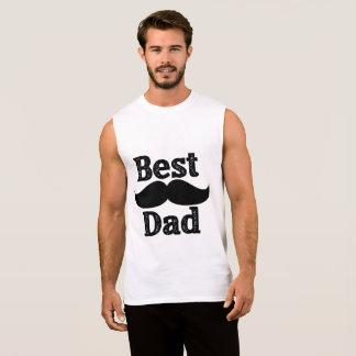 Best Dad sleeveless T shirt