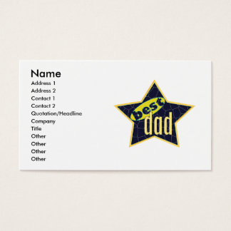 Best Dad Star 2 - Business Business Card